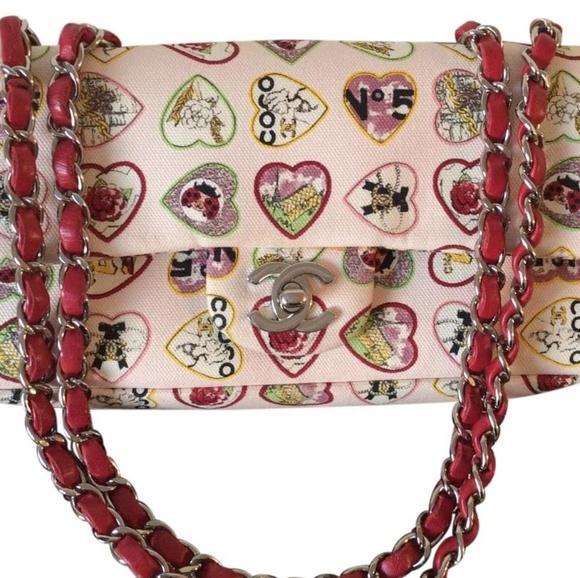 CHANEL Handbags - Chanel Classic Flap Hearts Shoulder Bag